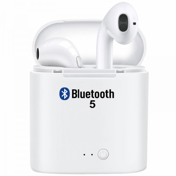 Casti bluetooth wireless i7s 2019, Stereo, Microfon, IOS Android